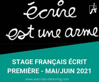 Stage Averroes e-learning, préparation aux écrits du bac français